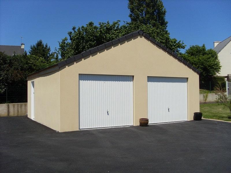 Réalisation d'un garage en béton avec 2 pentes Guillosou Doizon